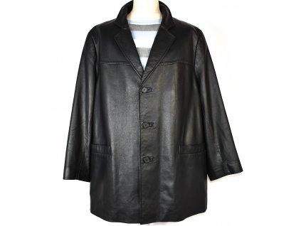 KOŽENÉ pánské černé měkké sako XXL
