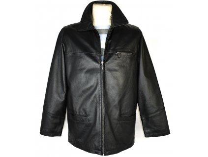 KOŽENÁ pánská černá měkká bunda na zip AVITANO M