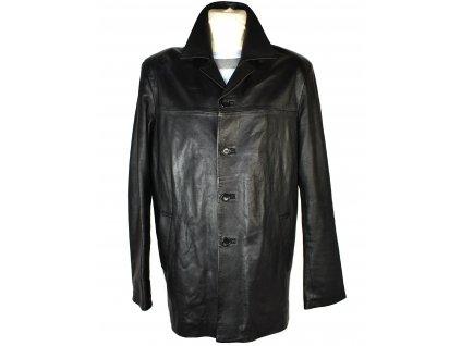 KOŽENÁ pánská černá měkká bunda M