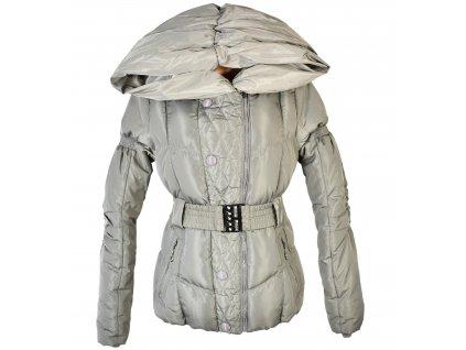 Dámský zimní prošívaný kabát s páskem FOREST M