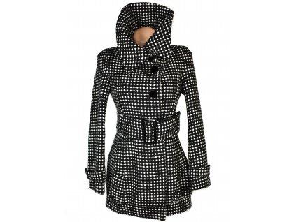 Dámský černobílý kabát s puntíky Cool Cat Party S