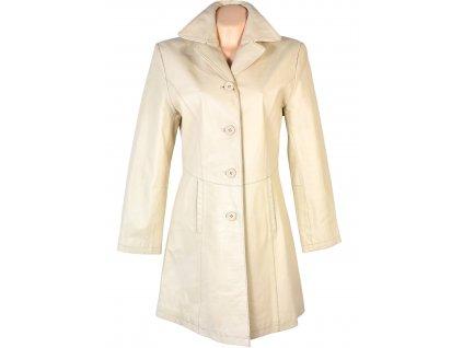 KOŽENÝ dámský krémový kabát CERO M