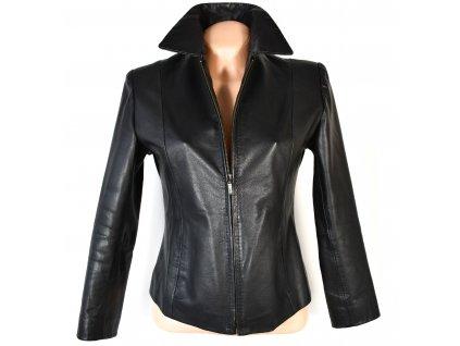 KOŽENÁ dámská černá měkká bunda Shic Skinn S