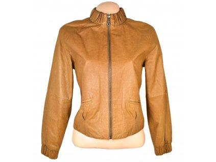 KOŽENÁ dámská hnědá měkká bunda na zip Modeszene S/M