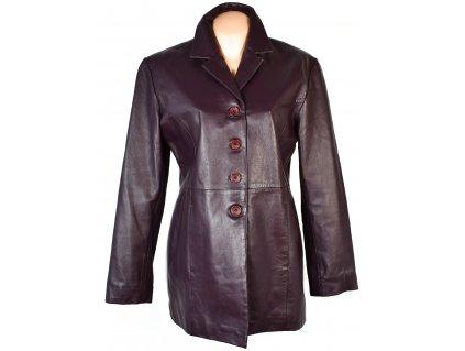 KOŽENÝ dámský fialový měkký kabát Different 42