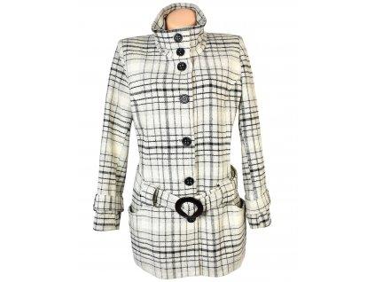 Dámský šedočerný kabát s páskem BPC XXL