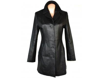 KOŽENÝ dámský černý měkký kabát GINA MARIOLANO 36