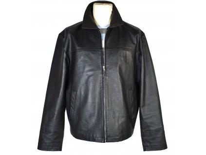 KOŽENÁ pánská černá měkká bunda na zip L