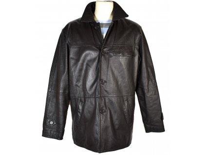 KOŽENÁ pánská hnědá měkká zateplená bunda CERO 50