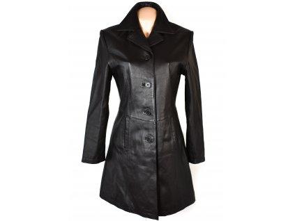 KOŽENÝ dámský hnědý měkký kabát CERO M