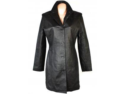KOŽENÝ dámský černý měkký kabát Montgomery 42