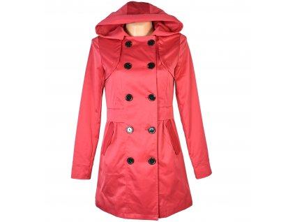 Dámský korálový kabát s kapucí S/ 36
