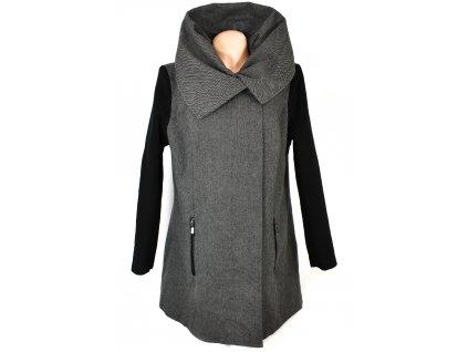 Dámský šedočerný kabát na zip BPC 46/20
