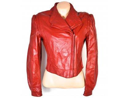 KOŽENÝ dámský červený křivák Wilsons Leather M