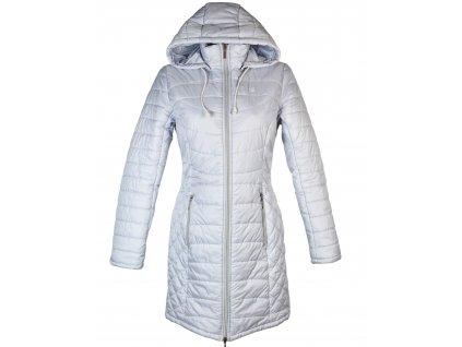 Dámský prošívaný modrý kabát s kapucí LOAP M