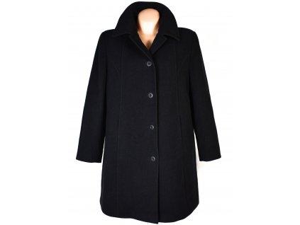 Vlněný (70%) dámský černý kabát (vlna, kašmír) JB XXL