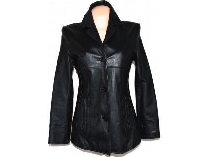 KOŽENÝ dámský černý měkký kabát K.K.M