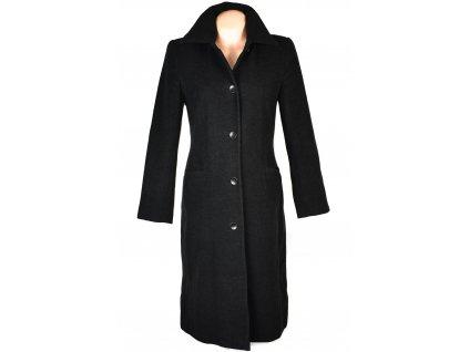 Vlněný (75%) dámský dlouhý šedočerný kabát Jürgen Michaelsen M