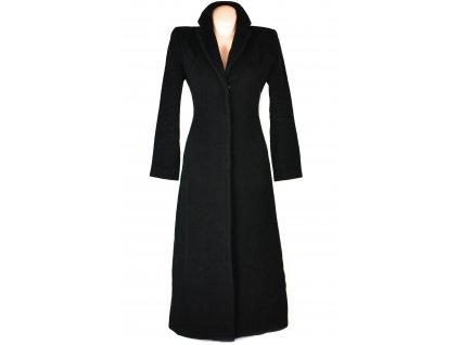 Vlněný (80%) dámský černý dlouhý kabát MORGAN XS/S
