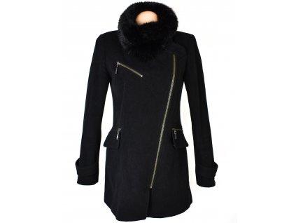 Vlněný (70%) dámský černý kabát - křivák Sir Oliver (vlna, kašmír) M