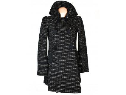 Vlněný (46%) dámský puntíkovaný kabát PROMOD S