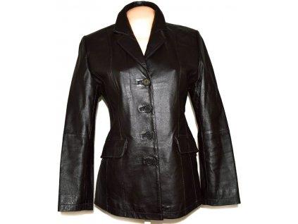 KOŽENÝ dámský temně hnědý kabátek CERO M