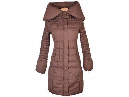 Dámský prošívaný hnědý kabát Ostyle Collection S
