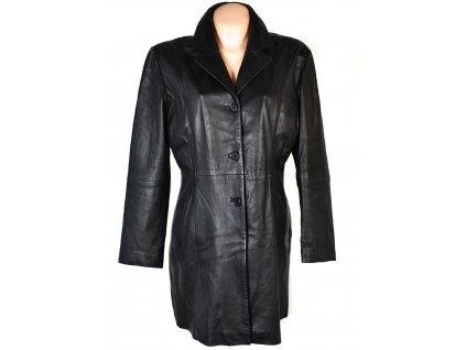 KOŽENÝ dámský černý měkký kabát Kara 44
