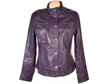 KOŽENÁ dámská fialová měkká bunda na zip STREET ONE L