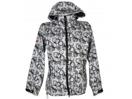 Dámská šedočerná softshellová bunda s kapucí THE NORTH FACE XL
