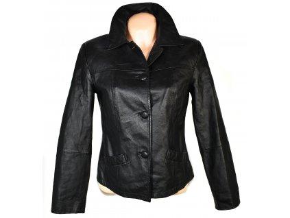 KOŽENÁ dámská černá měkká bunda M