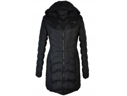 Dámský černý prošívaný kabát s kapucí LOAP XL