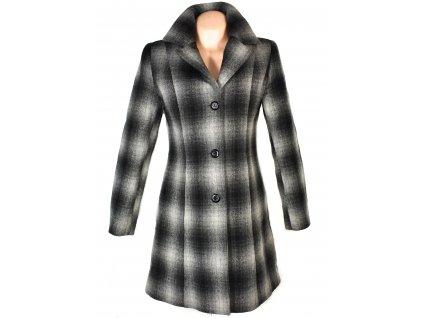 Vlněný (80%) dámský kostkovaný zateplený kabát P.H.Wesma 38