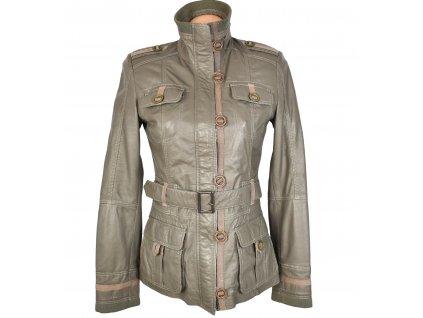 KOŽENÝ dámský měkkoučký kabát s páskem Ponto S