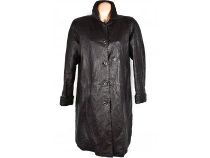 KOŽENÝ dámský hnědý měkký kabát Julia S. Roma XL