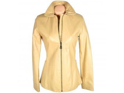 KOŽENÁ dámská krémová měkká bunda STEFFEL S