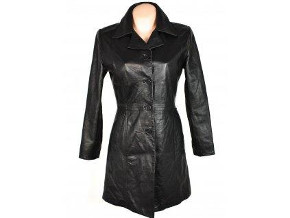 KOŽENÝ dámský černý měkký kabát FIRENZE S