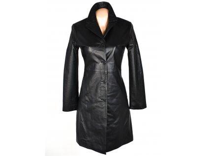 KOŽENÝ dámský černý měkký kabát PAPION S