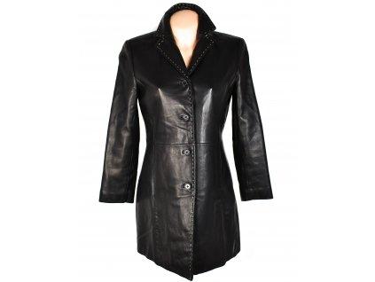 KOŽENÝ dámský černý měkký kabát S
