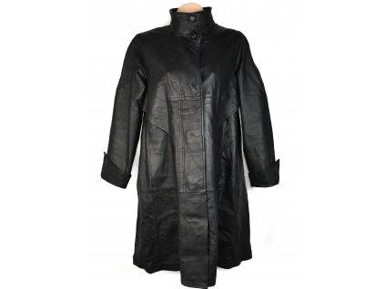 KOŽENÝ dámský černý měkký dlouhý kabát CERO 46