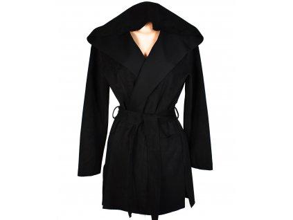 Dámský černý kabát na zavazování ZARA XL