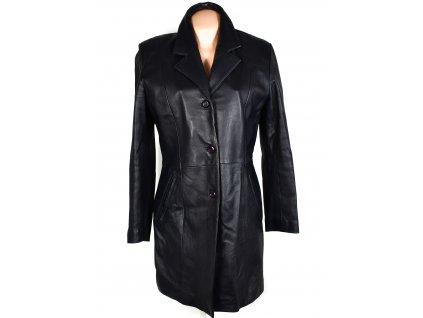 KOŽENÝ dámský modrý kabát M
