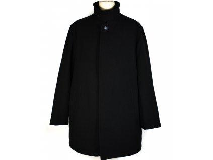 Vlněný (55%) pánský černý zimní kabát Marks&Spencer XXL