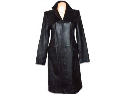 KOŽENÝ dámský dlouhý černý kabát CLOCKHOUSE S/M