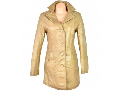 KOŽENÝ dámský pískový kabát TERRANOVA M