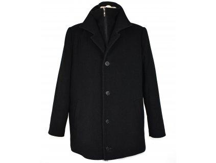 Vlněný pánský černý zimní kabát Verset Collection (vlna, kašmír) 58