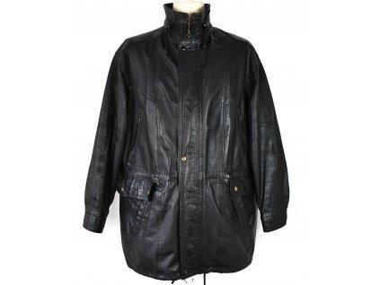 KOŽENÝ pánský černý měkký kabát Prostějov XL