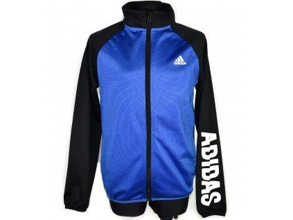 Chlapecká modro-černá mikina Adidas 140