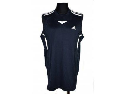 Chlapecké temně modré funkční tílko Adidas 164