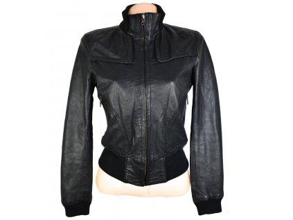 KOŽENÁ dámská černá měkká bunda Dorothy Perkins S